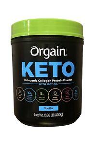 Orgain Keto Ketogenic Collagen Protein Powder Vanilla 0.88 Lbs Exp 10/12/22