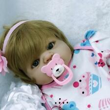 22'' Reborn Baby Doll Full Body Vinyl Silicone Lifelike Girl Doll Bath Pink Gift
