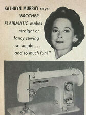 Brother Flairmatic Sewing Machine Magazine Print Ad Vintage 1959 Home Household