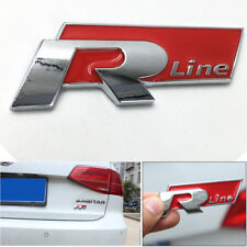 1Pcs Stingray Metal Red RLINE Logo Car Front Hood Side Door Badge Emblem Sticker