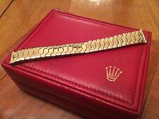 Excalibur en Oro Expandible Reloj Correa Para Vintage Rolex Tudor Omega Etc