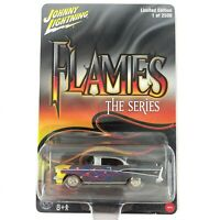 Johnny Lightning Flames The Series 1957 57 Chevy Bel Air Car Die Cast 1/64 Scale