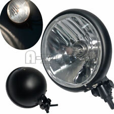 Black Retro Bullet Motorcycle Headlight 5 3/4 Inch Head Lamp For Harley Chopper