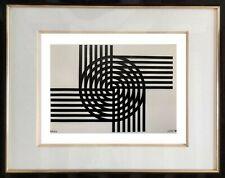 AUTHENTIQUE PEINTURE OP ART CINETIQUE EPOQUE 1970 SIGNEE LORETO  (43)