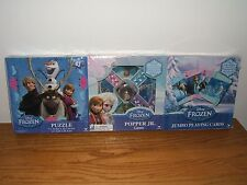 Frozen Game Combo Puzzle Popper Jr Jumbo Playing Cards Games (New/Sealed!)
