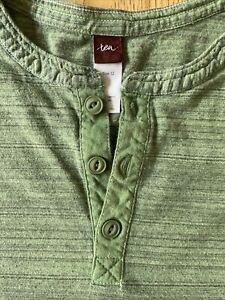 Tea Collection Boys Green Henley Shirt Size 12