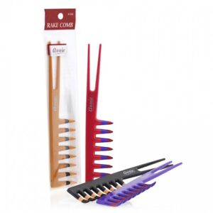 ANNIE RAKE COMB #220 ASSORTED COLOR TWO TONE 2 IN 1