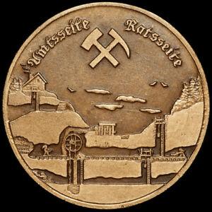 BERGBAU: Medaille 1984. MOLCHNER STOLLN - POBERSHAU IM ERZGEBIRGE ⇒ MARIENBERG.