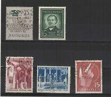 Yougoslavie  1954-55 5 timbres oblitérés /T2118