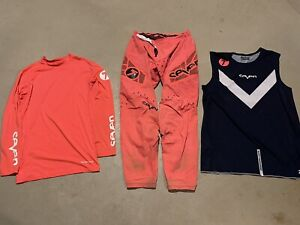 SEVEN MX ZERO DELTA PANTS OVER JERSEY ZERO COMPRESSION LARGE CORAL MOTOCROSS