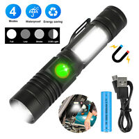 Tactical T6 Flashlight Super Bright LED Rechargeable Zoom Torch Light Waterproof