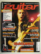 GUITAR MAGAZINE 2011/7 NR. 134 - RITCHIE BLACKMORE PAUL RODGERS JIMI HENDRIX