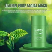 Green Tea Purifying Clay Stick Mask Oil Control Anti-Acne Fine Eggplant S2O6