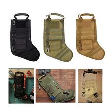 Tactical Molle Christmas Socks Sacks Stocking Xmas Bag Santa Sock Pouch Case Bag