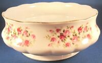 Queen Anne Cascade Roses Bone China Round Vegetable Serving Bowl (7.75 In.)