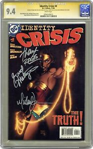 Identity Crisis #4A Turner Variant CGC 9.4 SS 2004 0764143013
