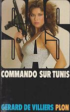 Livre de poche policier SAS commando sur Tunis n°68 G. de Villiers book