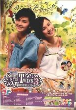 "Twins ""Singing In The Wonderland"" Hong Kong Promo Poster-Taiwanese Pop Music Duo"
