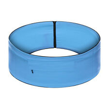 Unisex elasticizzata running Yoga Cintura Borsa Zip Pouch Cintura Blu (L)