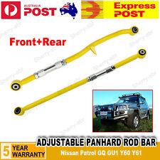 For Nissan Patrol GQ GU1 Y60 Y61 Series Adjustable Panhard Rod Bar Front+Rear