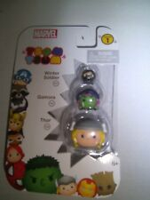 Marvel Tsum Tsum Series 1 Winter Soldier, Gamora & Thor 1-Inch Minifigure 3-Pack