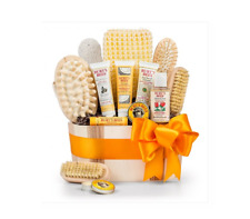 Burt's Bees Travel Bath and Body Essentials Loofah Gift Basket New Free Shipping