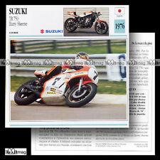 #029.01 SUZUKI TR 750 Photo : BARRY SHEENE 1976 Fiche Moto Motorcycle Card