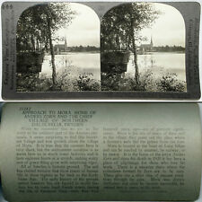 Keystone Stereoview of The Village of Mora in SWEDEN From The 600/1200 Card Set
