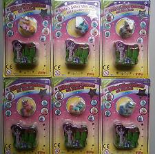 Alle 6 verschiedene  Baby Filly Süßes Silber-Unicorn mit Döschen * Pferde