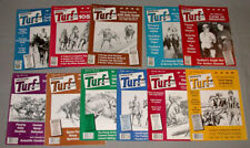"1980 Lot of 11 Horse Racing "" Turf magazine "" Issues"