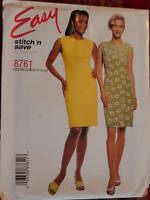 8761 Vintage McCalls SEWING Pattern Misses Slim Dress Easy UNCUT Stitch n Save