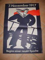 DDR Propaganda-Plakat/7. November, Beginn einer neuen Epoche 41 x 57 (SELTENST)