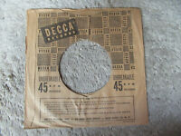 sleeve only DECCA unbreakable    45 record company sleeve only    45