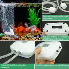 Fish Air Oxygen Pump,USB Charger Cable,2 outlet ,Ultra-quiet,Use 12-15 hours,5W