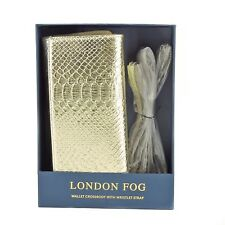London Fog Wallet Crossbody In Gold