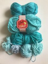 Yarn Bundle Knit Crochet Blue Crafts Clear Out Job Lot
