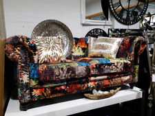 SPECIAL* Designer Patchwork Chesterfield 2 Seater Sofa