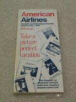 American Airlines Timetable  July 1, 1989 =