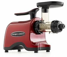 Omega TWN32RF Twin Gear Juicer - Masticating Dual Auger RED FOR UK ONLY NEW!!