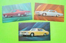 3 Diff 1968 CHEVROLET Dealer / Factory Postcards CHEVELLE COUPE, IMPALA, MALIBU
