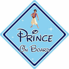 Disney Prince On Board Car Sign - Baby On Board Car Sign - Aladdin