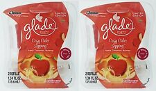 4 REFILLS Glade Plugins COZY CIDER SIPPING Apple Cinnamon Scented Oil Refill