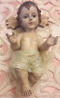 Gesu' Bambino porcellana dipinto a mano Presepe Natale Nativita' cm 24/ 600 g
