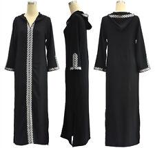 Puls Size M~7XL Dubai Hooded Abaya Islamic Muslim Women Jilbab Maxi Dress Kaftan