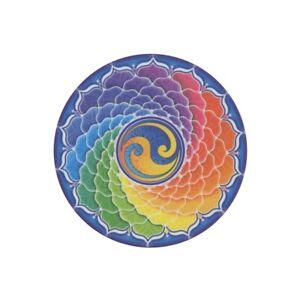 Mandala Arts Window Sticker Double Sided: Rainbow Spiral 11.7cm
