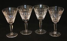 4 Waterford Irish Crystal Cut Glass Glenmore 7 Inch Water Goblets