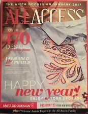 Anita Goodesign All Access January 2017 Embroidery Machine Cd CD ONLY