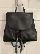 Patricia Nash Venosa Heritage Black Italian Leather Backpack Bag $229