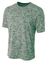 A4 Men's Moisture Wicking Polyester Odor Resistant Short Sleeve Basic Tee. N3296