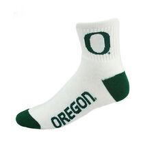 Oregon Ducks Men's (Large) Short Crew White Socks